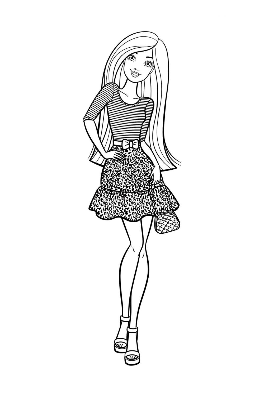 Раскраска Барби в морском стиле