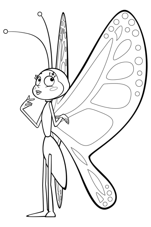 Раскраска Беатрис бабочка