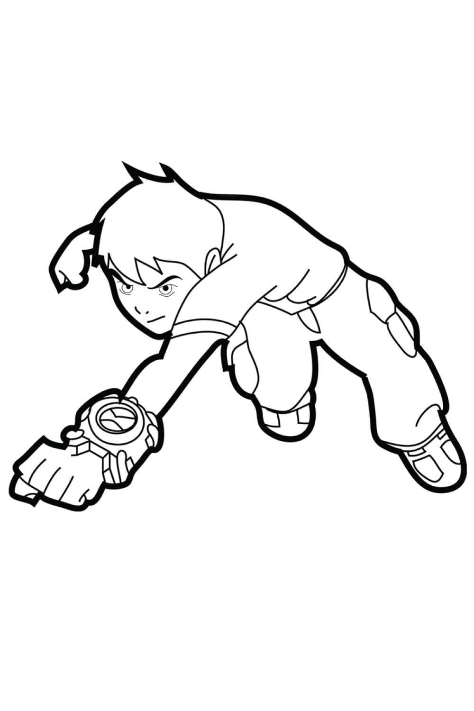 Раскраска Бен 10 (Бенджамин Кирби Теннисон)