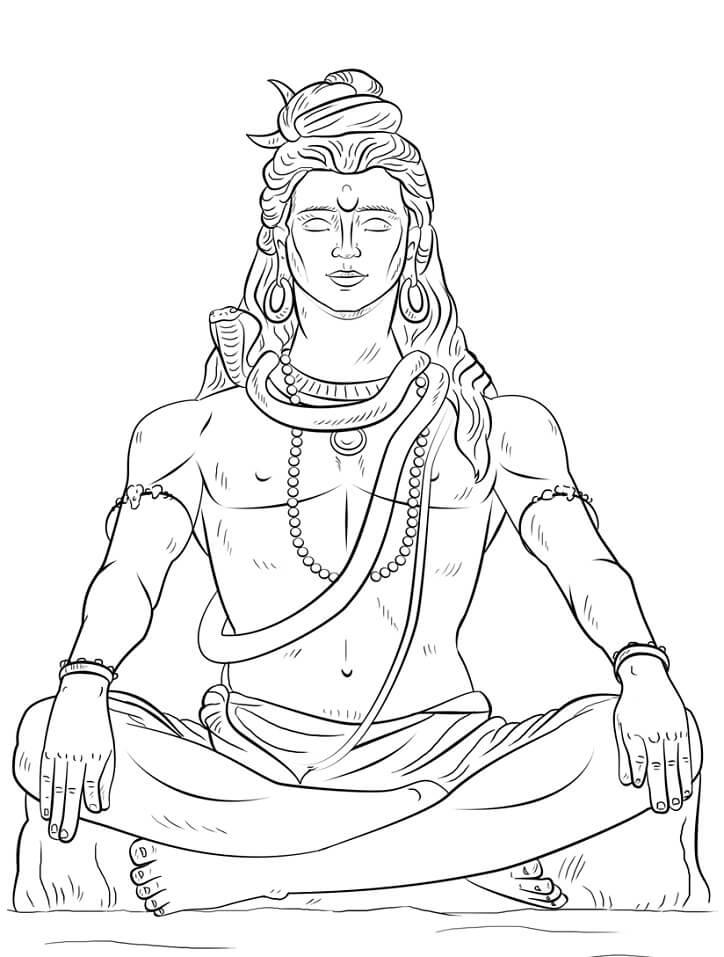 Раскраска Бог Шива