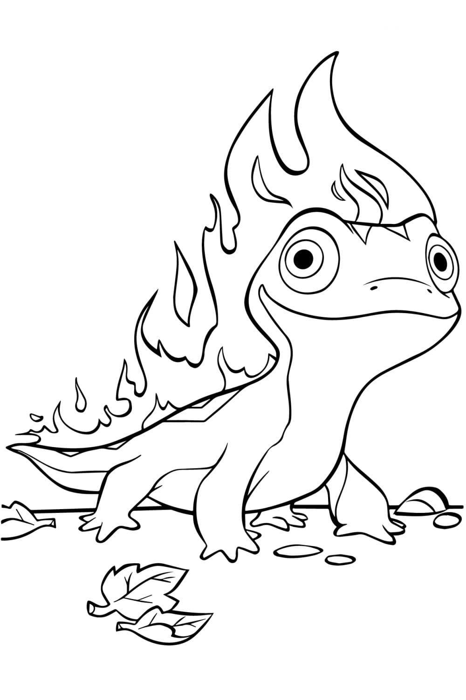 Раскраска Бруни - стихия Огня