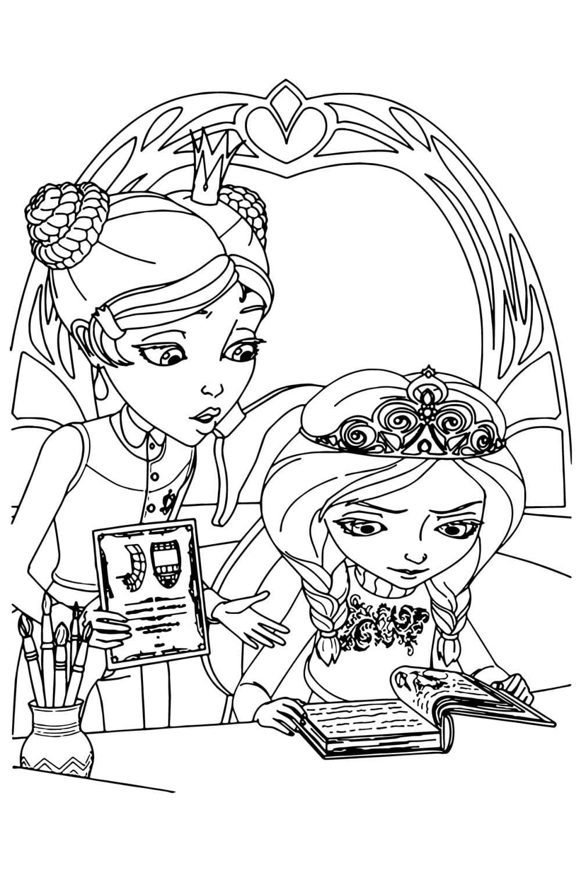 Раскраска Царевны Даша и Алёнка