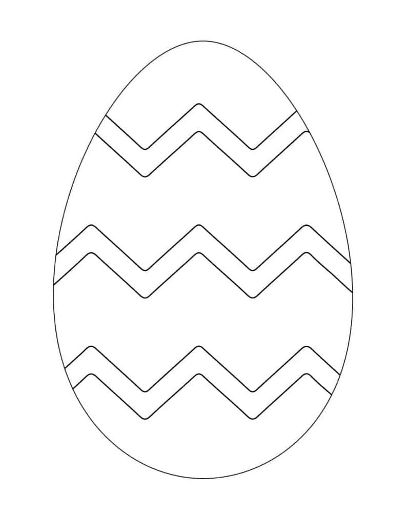 Раскраска чудесное пасхальное яйцо 1