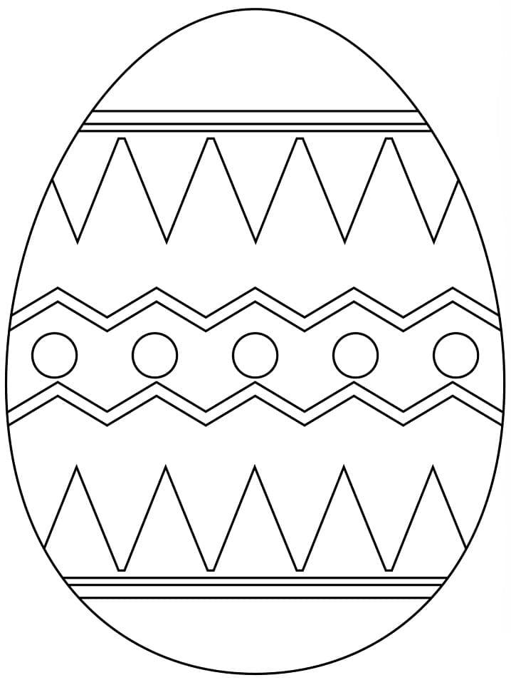 Раскраска чудесное пасхальное яйцо 3