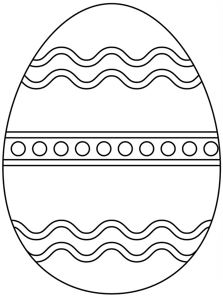 Раскраска чудесное пасхальное яйцо 5
