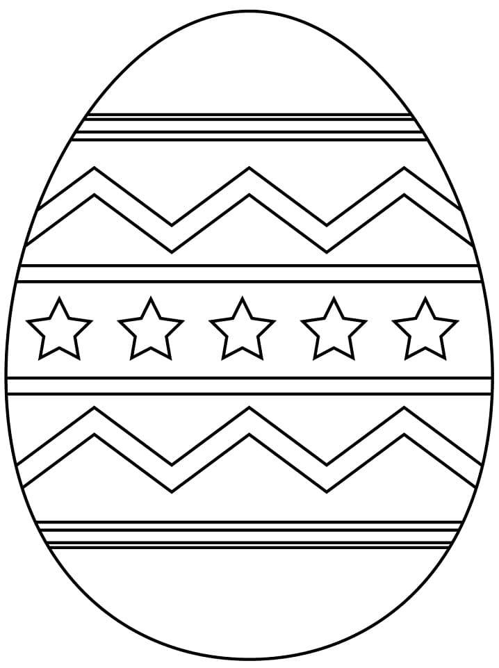 Раскраска чудесное пасхальное яйцо 6