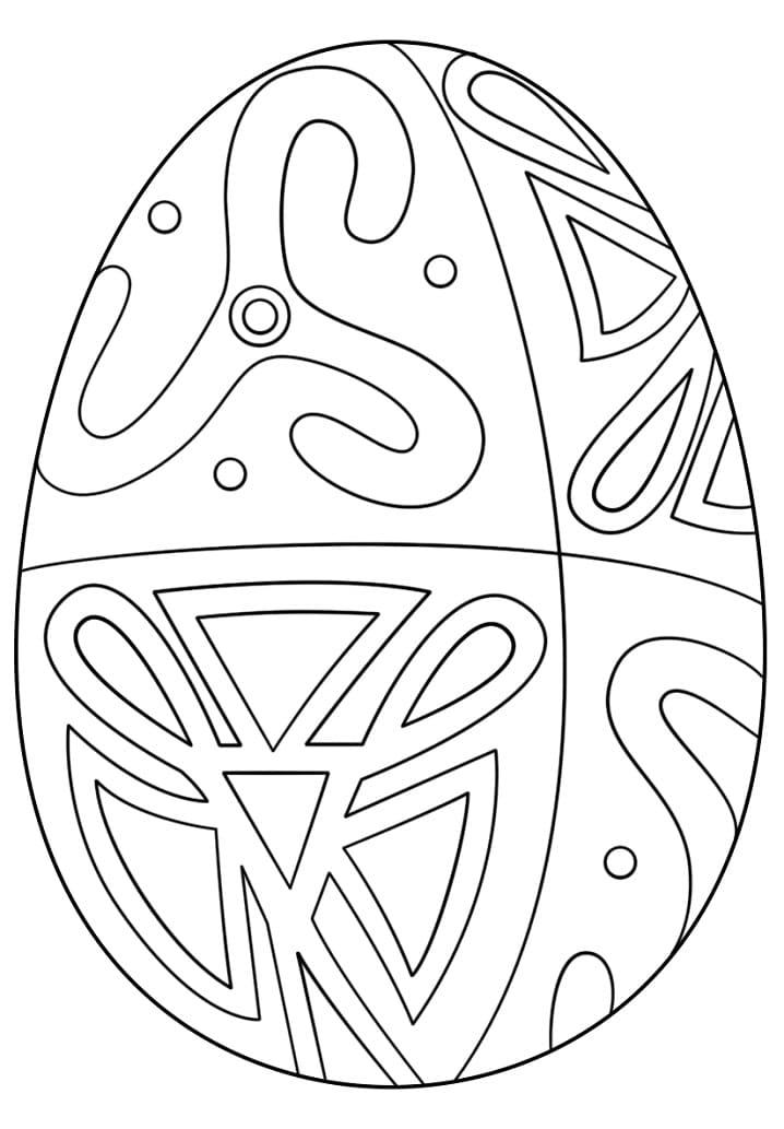 Раскраска чудесное пасхальное яйцо 8