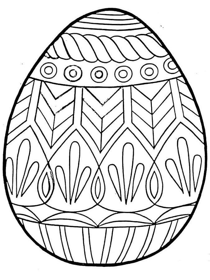 Раскраска чудесное пасхальное яйцо