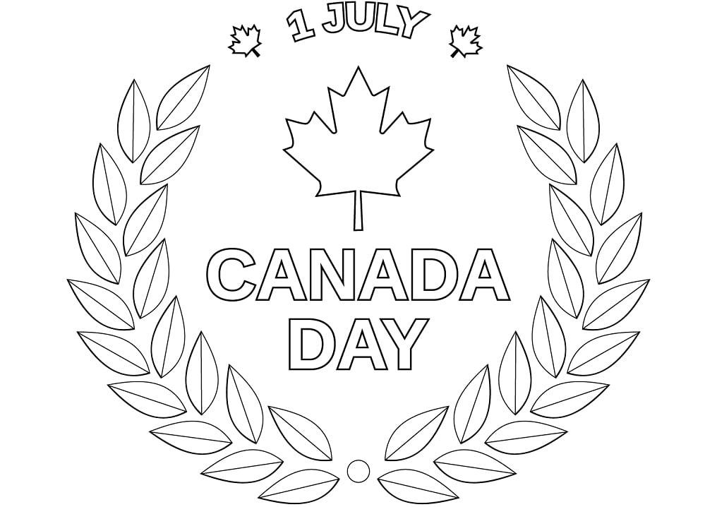 Раскраска День Канады 1