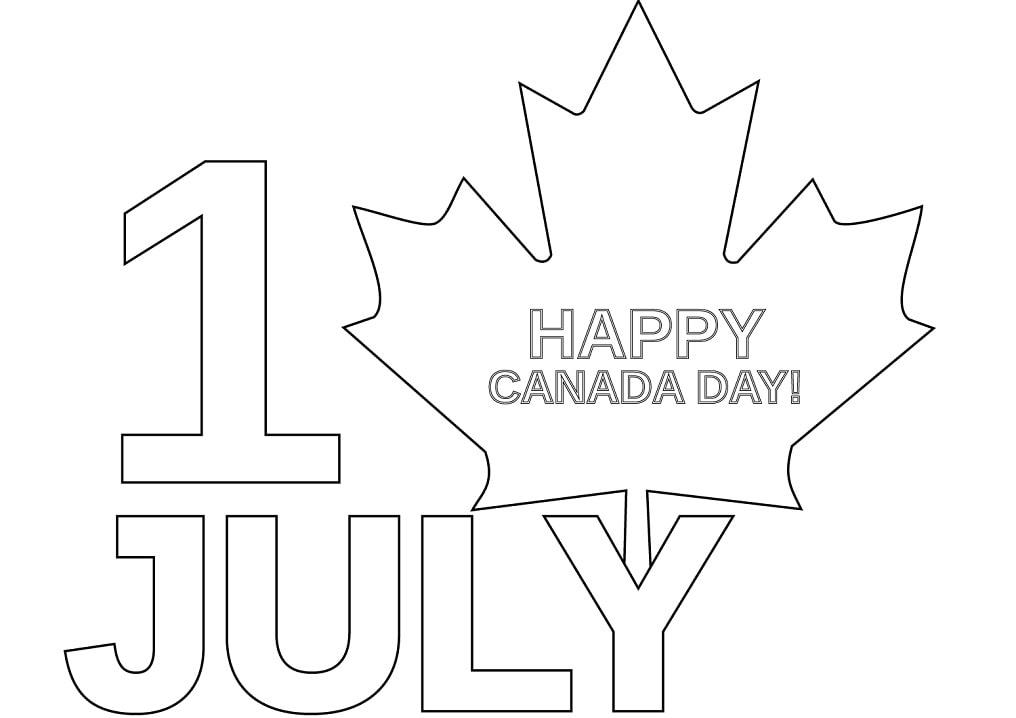 Раскраска День Канады