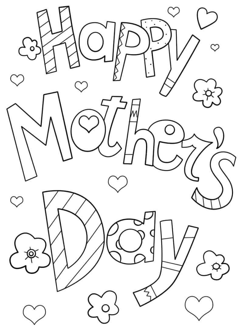 Раскраска День матери 1