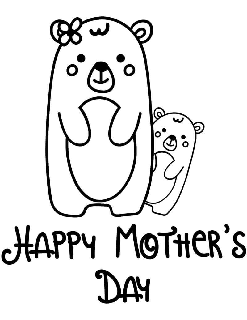 Раскраска День матери 2
