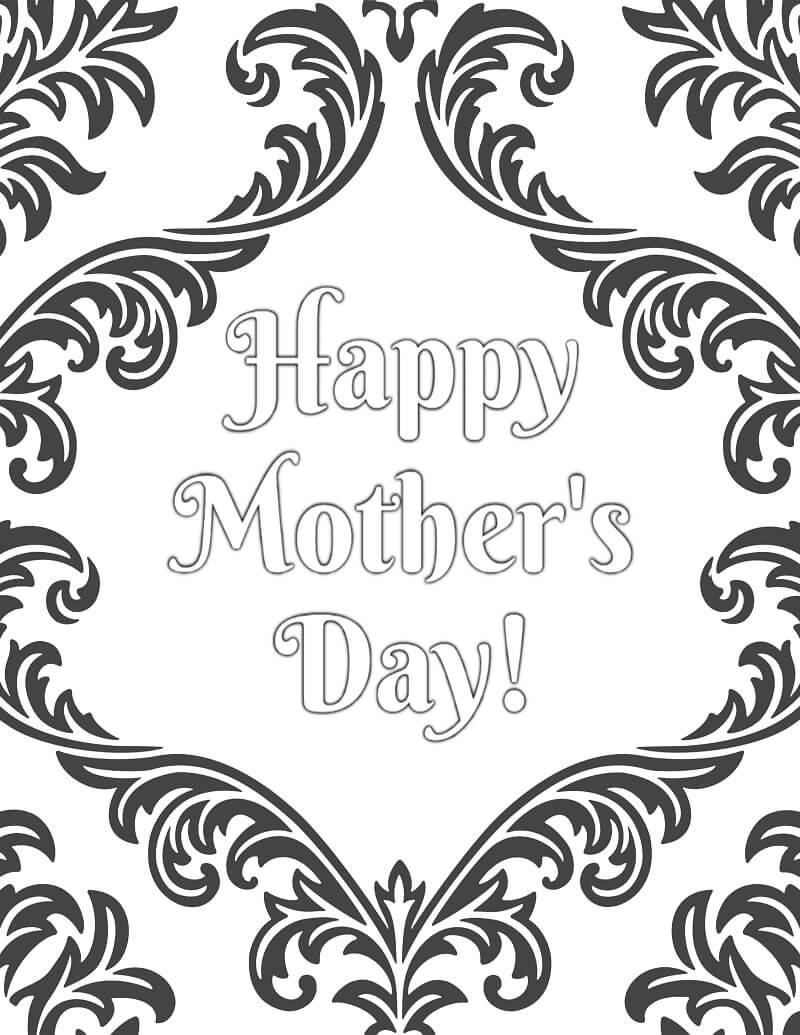 Раскраска День матери 3