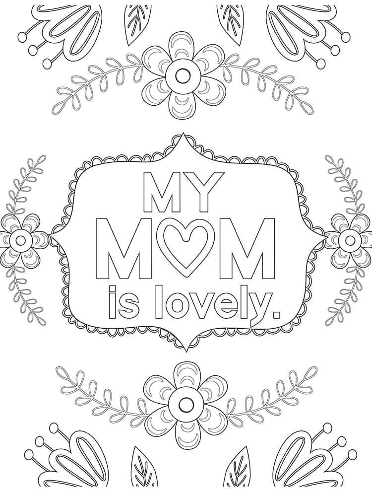 Раскраска День матери 6