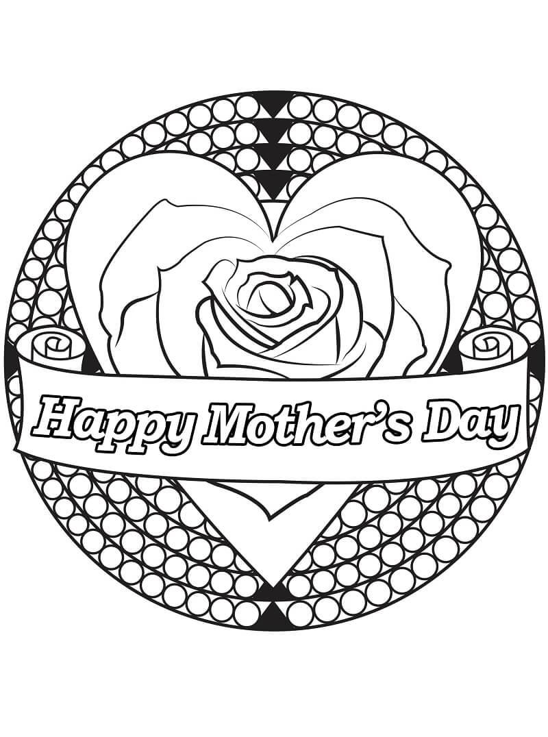 Раскраска День матери