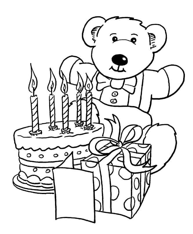 Раскраска день рождения 1