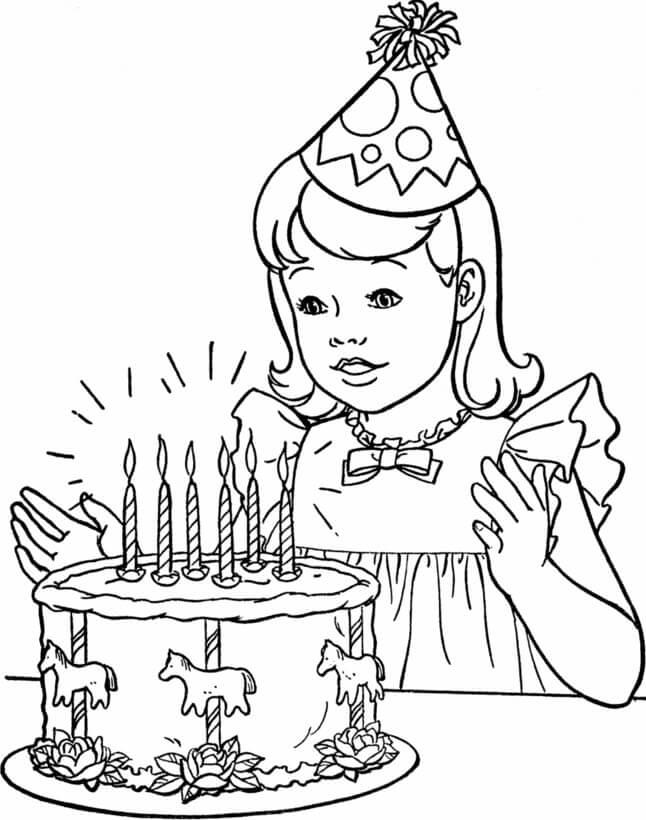 Раскраска день рождения 2