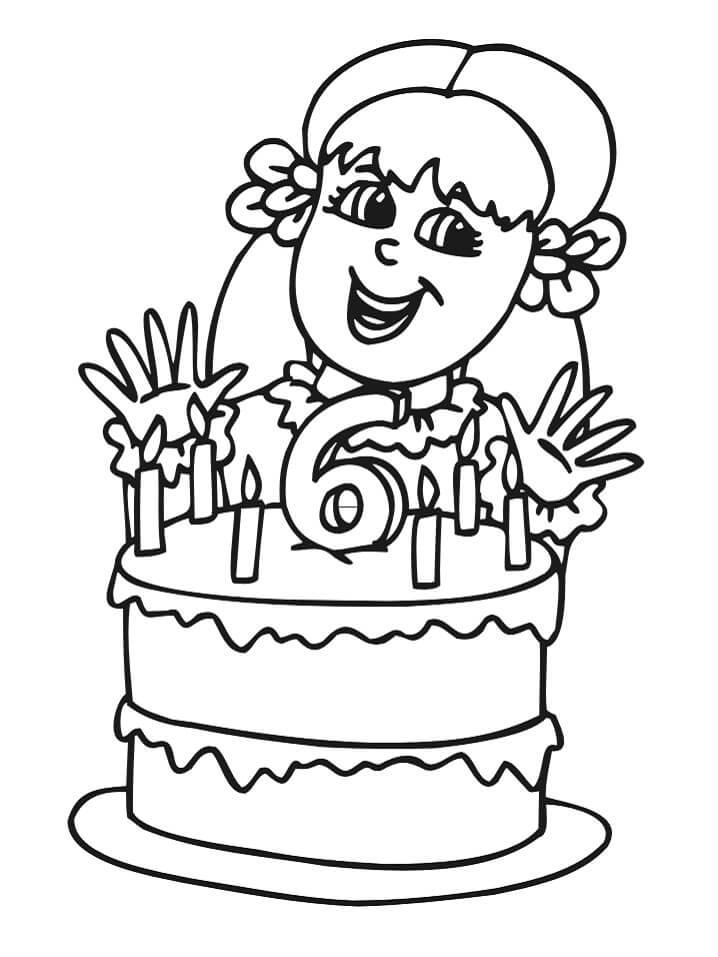 Раскраска день рождения 4