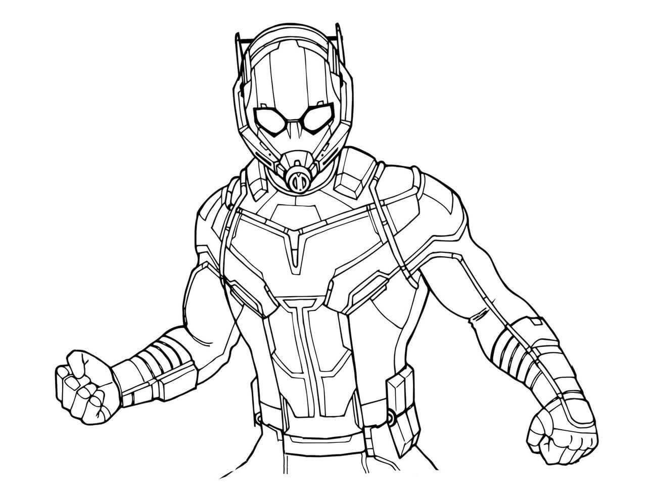 Раскраски Человек-муравей