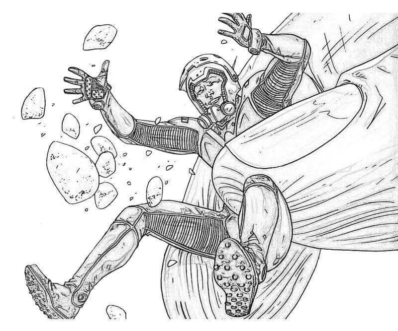 Раскраска действие Человек-муравей 2