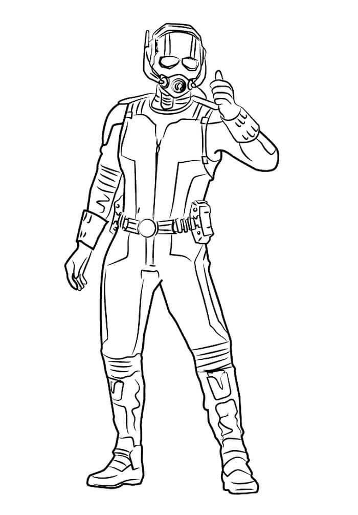 Раскраска действие Человек-муравей 3