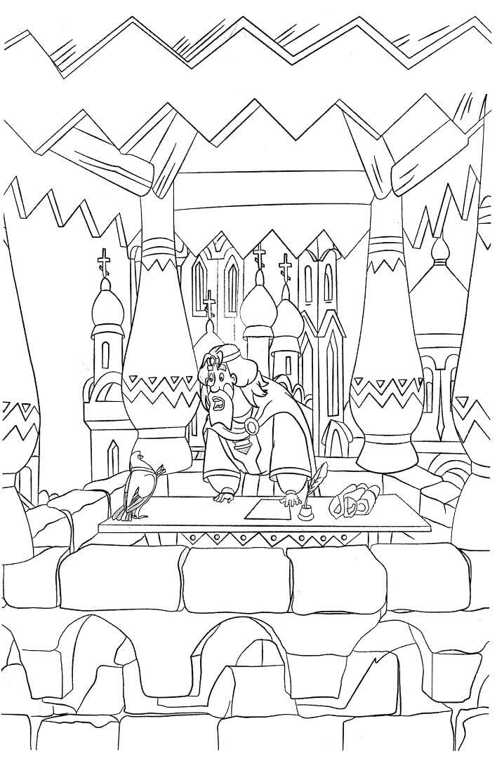 Раскраска Добрыня Никитич и Змей Горыныч 13