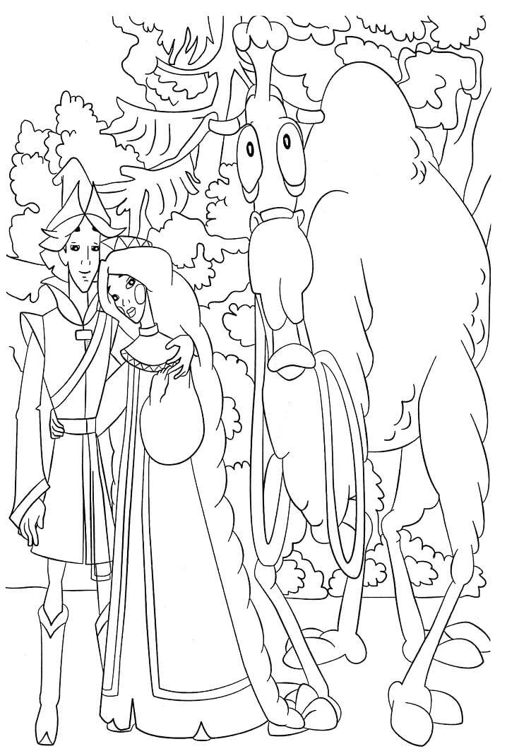 Раскраска Раскраски Добрыня Никитич и Змей Горыныч