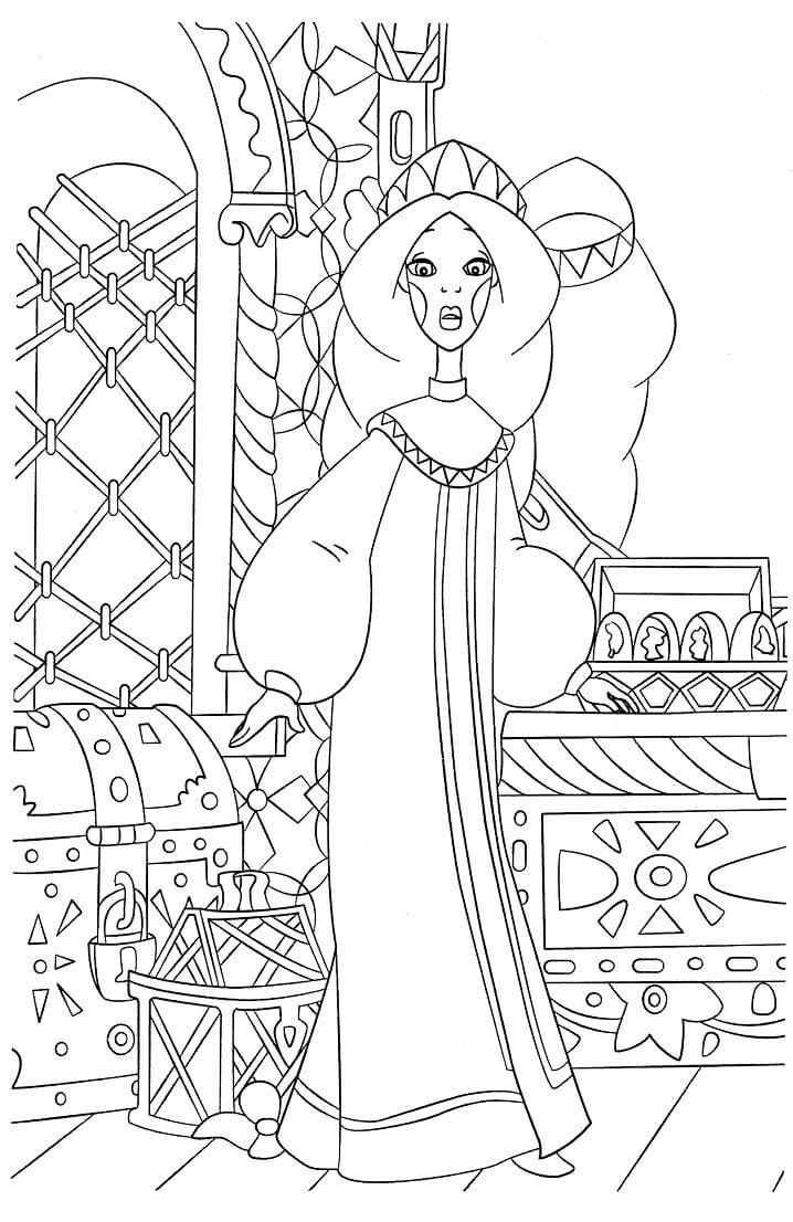 Раскраска Добрыня Никитич и Змей Горыныч 2