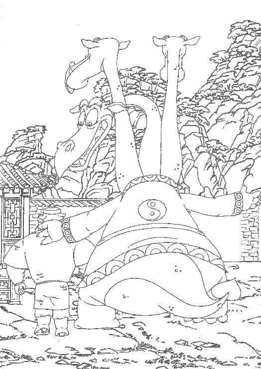 Раскраска Добрыня Никитич и Змей Горыныч 20