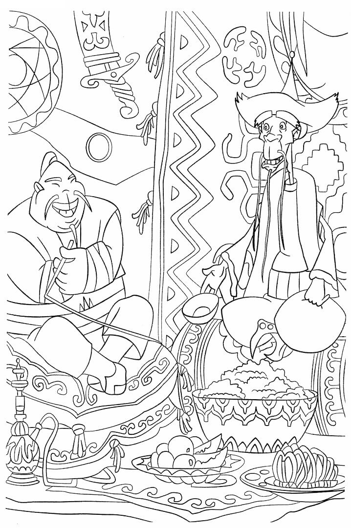Раскраска Добрыня Никитич и Змей Горыныч 4