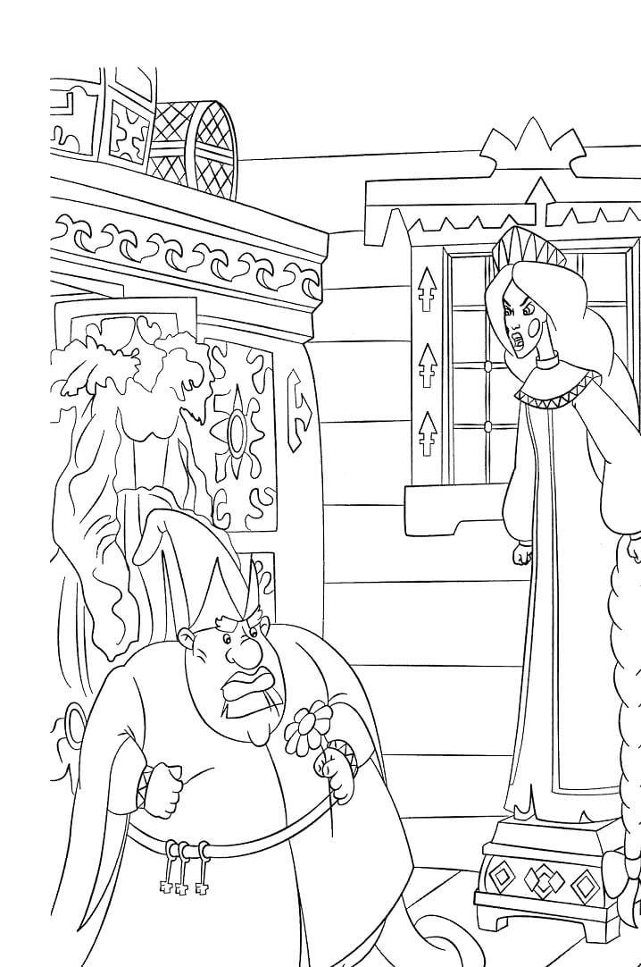 Раскраска Добрыня Никитич и Змей Горыныч 5