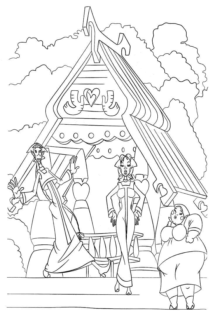 Раскраска Добрыня Никитич и Змей Горыныч 6
