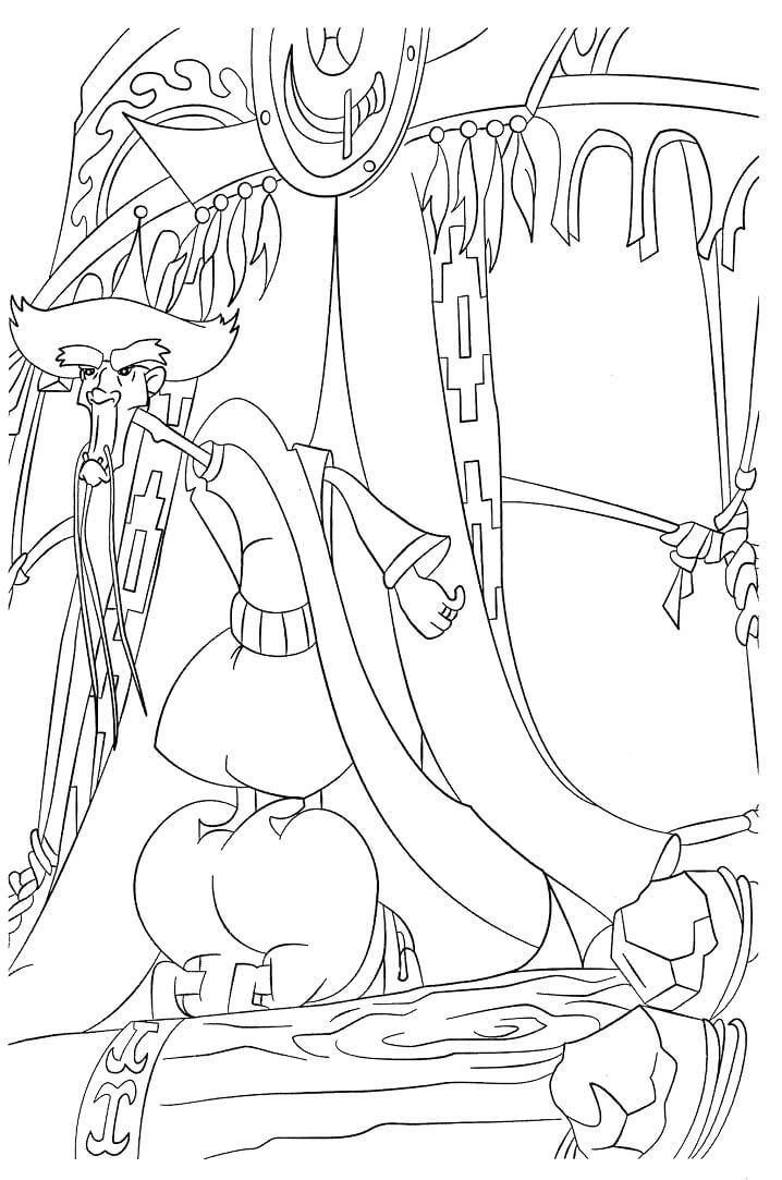 Раскраска Добрыня Никитич и Змей Горыныч 7