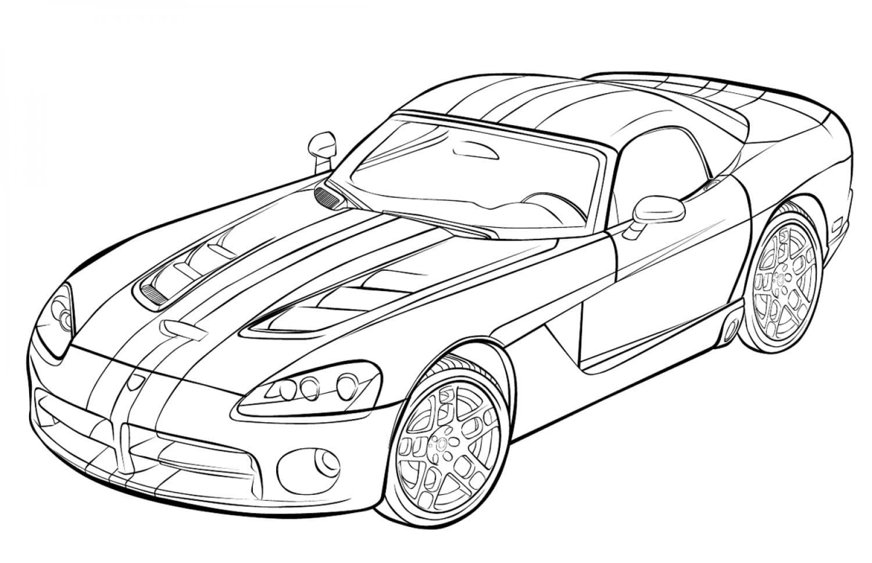 Раскраска Dodge
