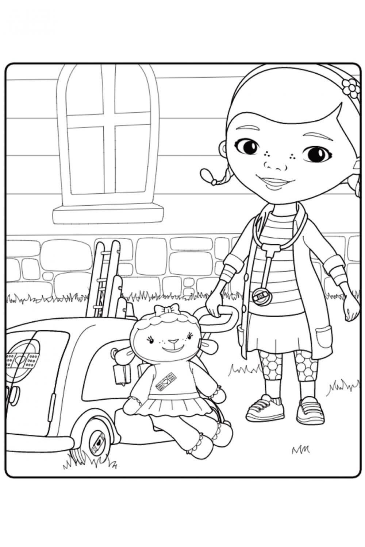Раскраска Дотти и Лэмми