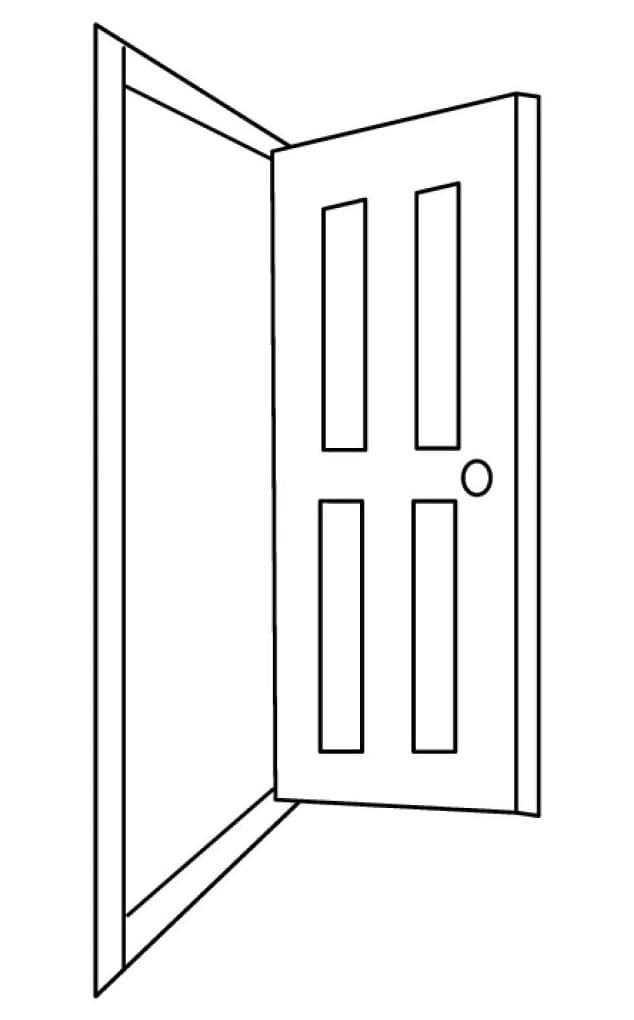Раскраска Дверь