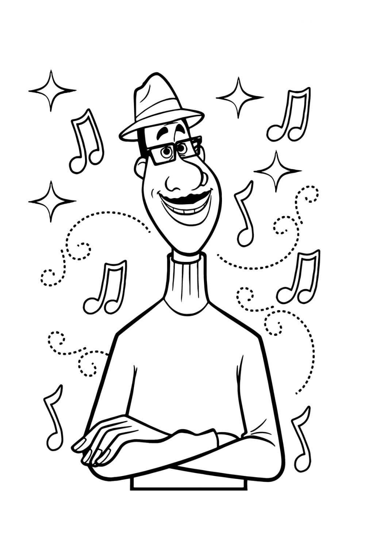 Раскраска Джо Гарденер - джазовый музыкант