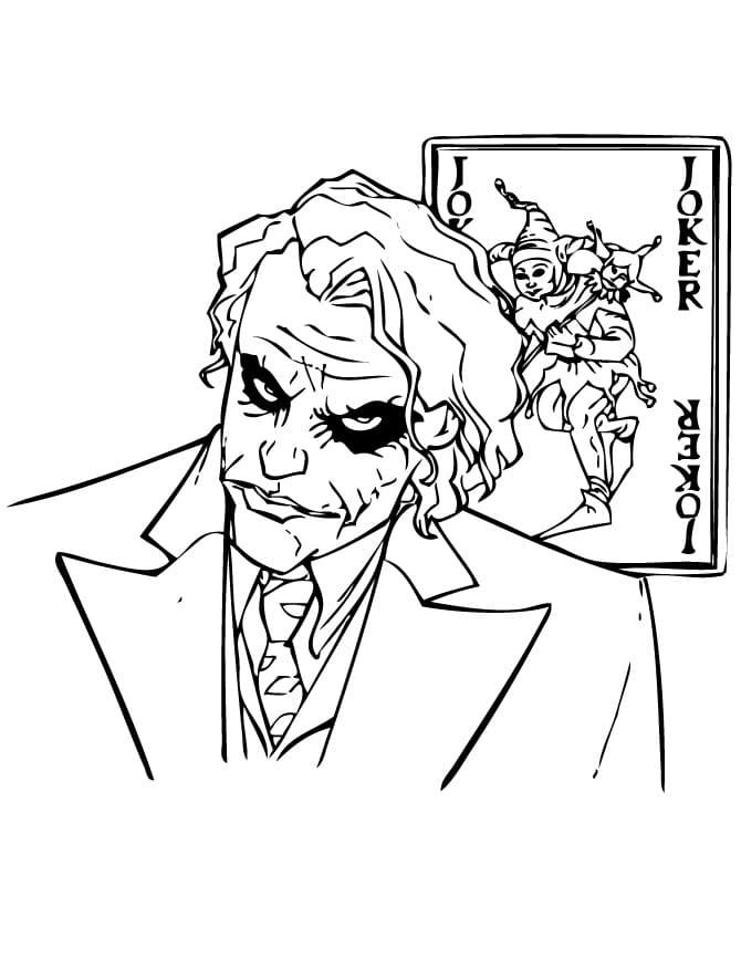 Раскраска Джокер 10
