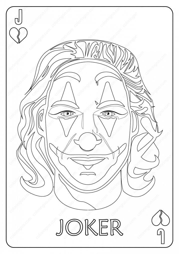 Раскраска Джокер 12