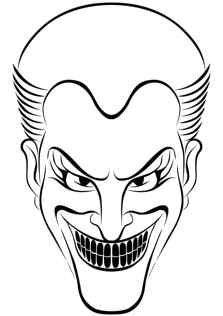 Раскраска Джокер 14