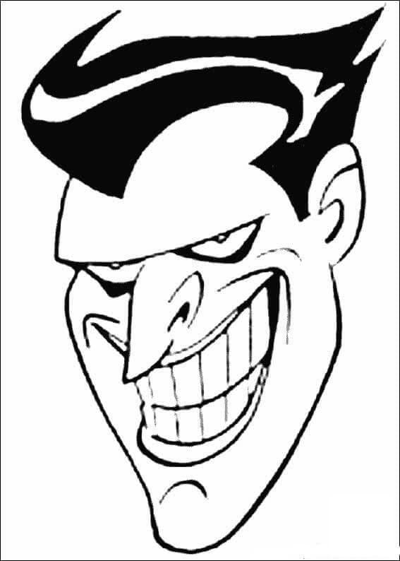 Раскраска Джокер 15