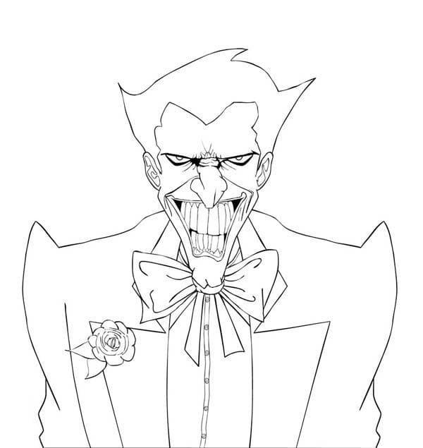 Раскраска Джокер 16