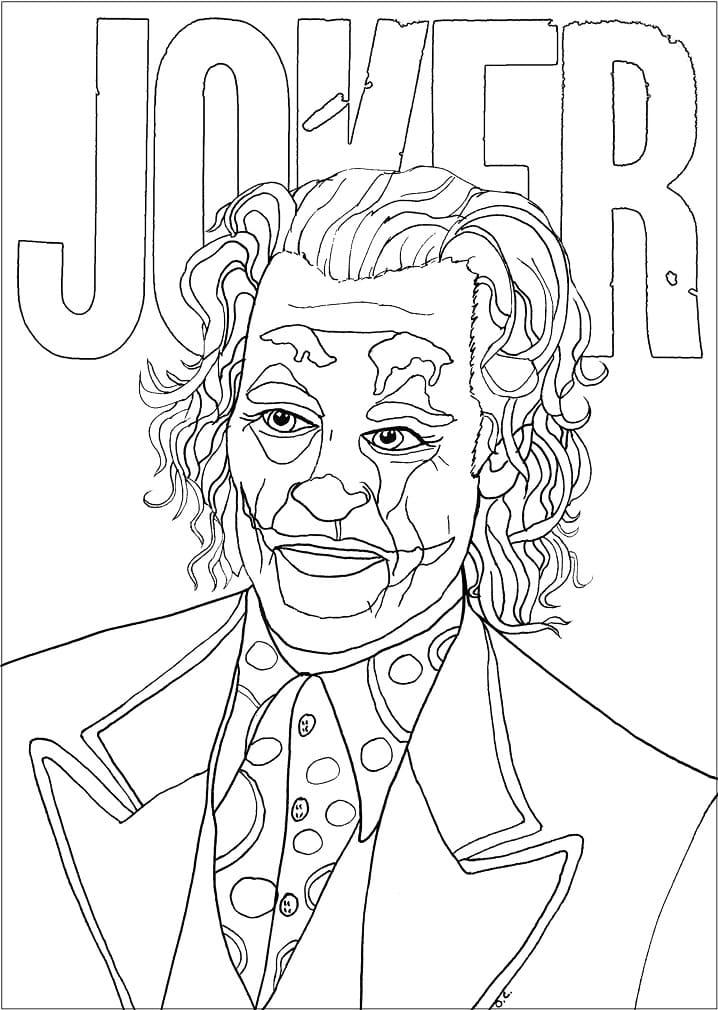 Раскраска Джокер 17