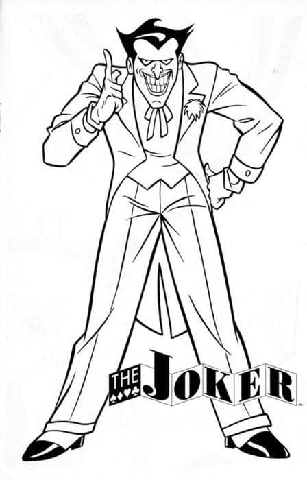 Раскраска Раскраски Джокер