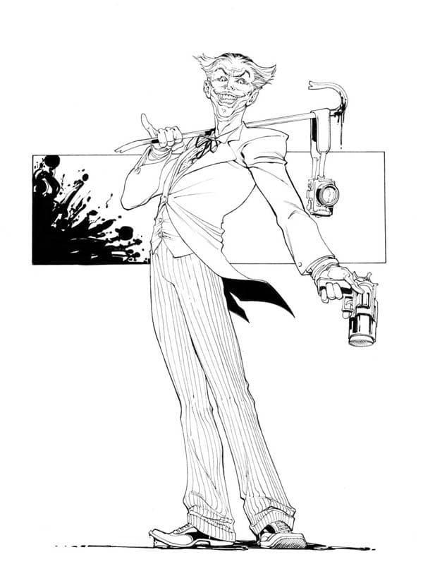Раскраска Джокер 5