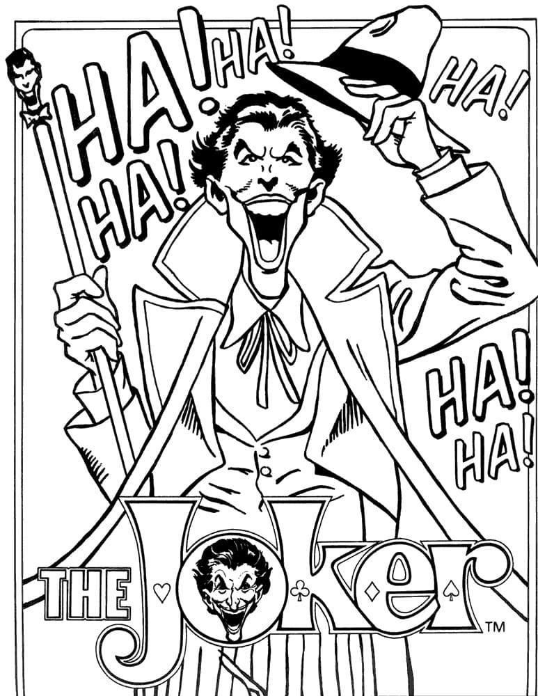 Раскраска Джокер 6