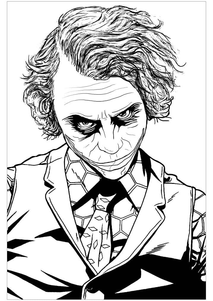 Раскраска Джокер 9