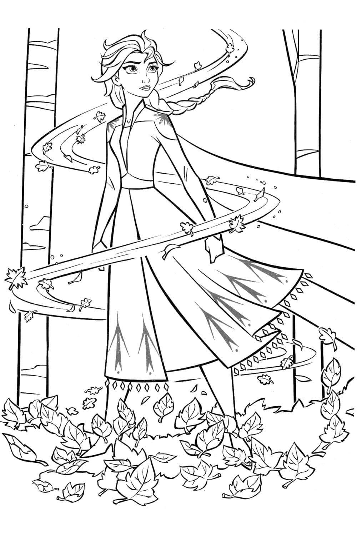 Раскраска Эльза и стихия Ветра