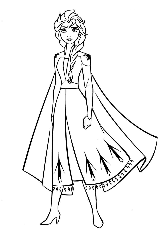 Раскраска Эльза королева Эренделла