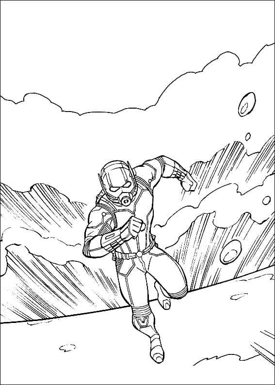 Раскраска фантастический Человек-муравей 2